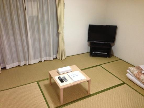 Minshuku Hakuseiso: 202号室の和室にはテレビがありました。無料で観られました。
