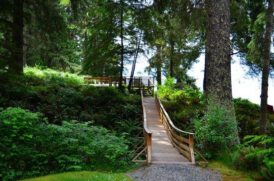 Point-No-Point Resort: bridge to the deck