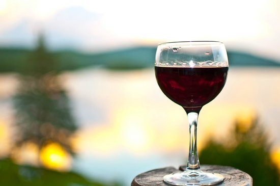 Le Grand Lodge Mont-Tremblant: Enjoying glass of wine at a sunset