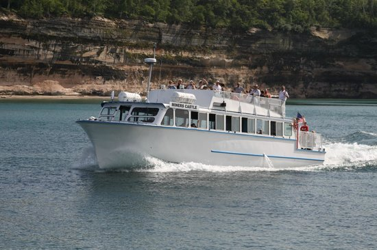Pictured Rocks Cruises: One of the passenger boats