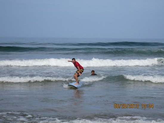 Point Break Surf School: Up on my first try!!