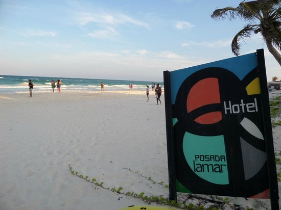 Posada Lamar : busy afternoon at the beach