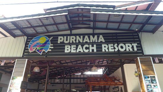 Purnama Beach Resort: Entrance to resort