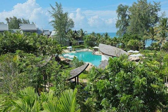 Natai Beach Resort & Spa, Phang-Nga: view to the big pool from the SPA
