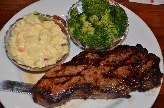 Apple's Bar & Grill: N.Y. 10 Oz. Strip Steak.