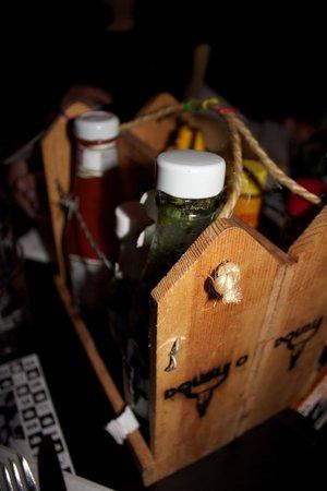 Garlic & Shots: Garlic and Shots- Barb Wire Condiment Caddy
