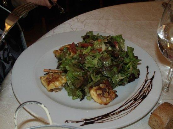 Auberge la Bartavelle : salade de chèvre chaud au miel