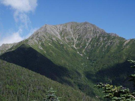 Mt. Kitadake: 熊ノ平小屋から見る農鳥岳