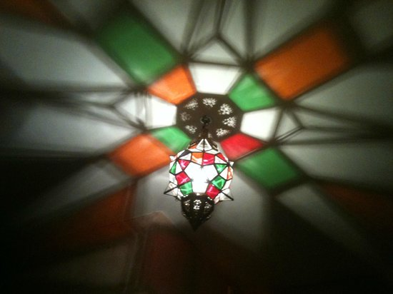 Blanch House : Great ceiling light! The Moroccan Room