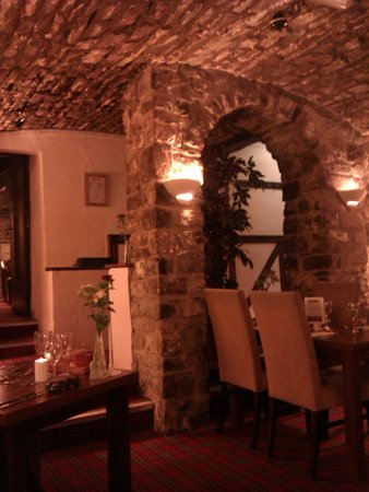 The Bear Hotel: View of Cellars Restaurant from our table