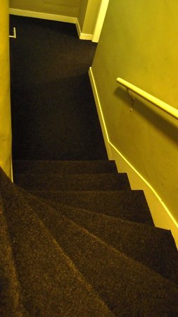 York House Hotel: Steps from reception to basement (2)