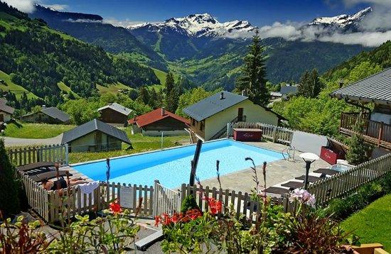 Hôtel La Ferme du Chozal : Vue sur la piscine