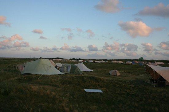 Campingplatz Palisadendiek: abend