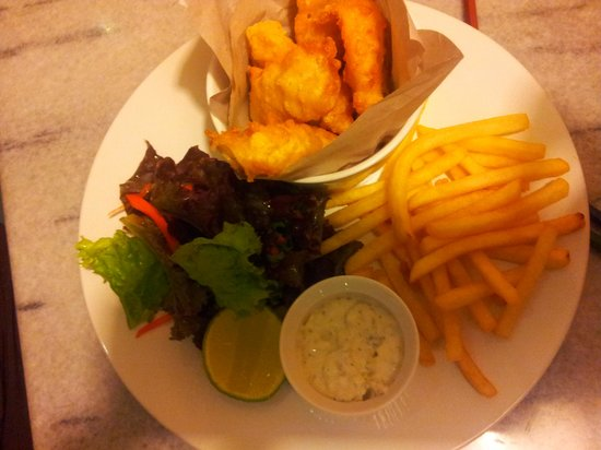 Q Smokehouse: fish n chips
