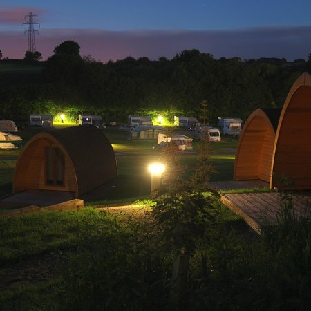 Whitehill Country Park: Camping pods at night