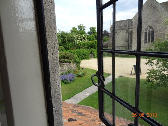 Lacock Pottery Bed & Breakfast: view to the church