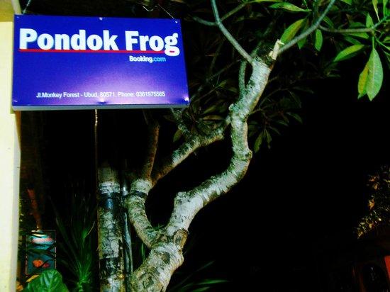 Pondok Frog Bungalow: Pondok Frog Sign