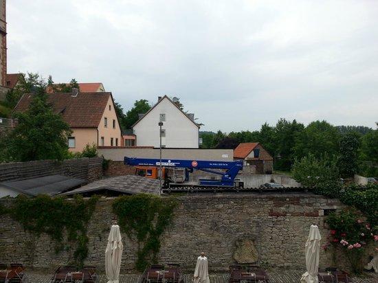 Hotel Meisnerhof: Blick auf meinen Parkplatz
