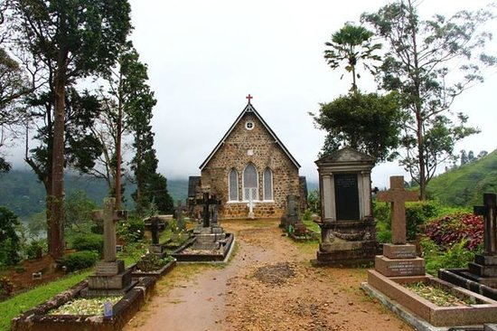 Dickoya, ศรีลังกา: View from the Church Yard