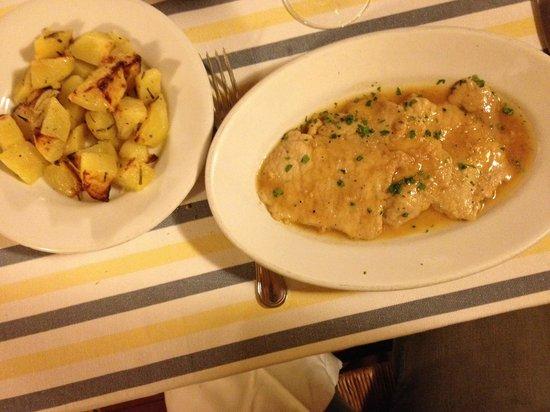 Osteria Il Gallo e L'Innamorata: Escalopes au Marsala