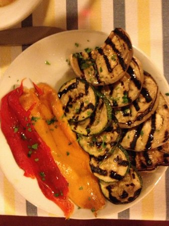 Osteria Il Gallo e L'Innamorata: Accompagnement de légumes grillés