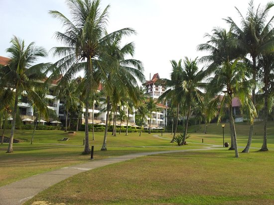 Bintan Lagoon Resort: View of the resort from the ferry terminal