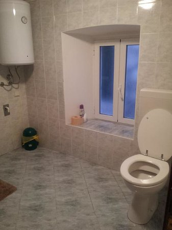 The Balkan Backpacker: Spacious shower and toilet (2)