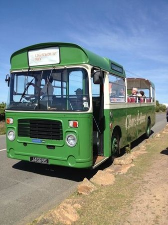 Jersey Bus and Coach Tours: lovely day for a topless ride