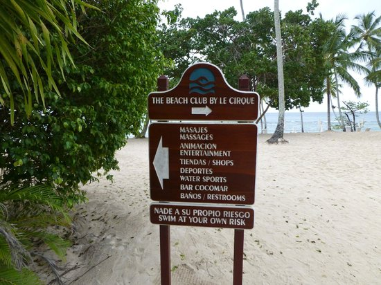 Entrance Sign at Minitas Beach