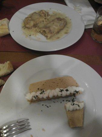 Politena: asparragos rellenos de txangurro y pudding de cabracho