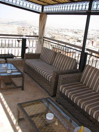 Riad Adarissa: petite terrasse