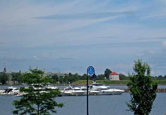 view of Kingston Harbour from West Seventy6 Grill Patio