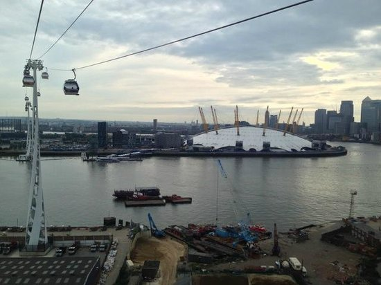 Ibis Styles London Excel View Of O2 Arena From The Emirates Air Line Gondola