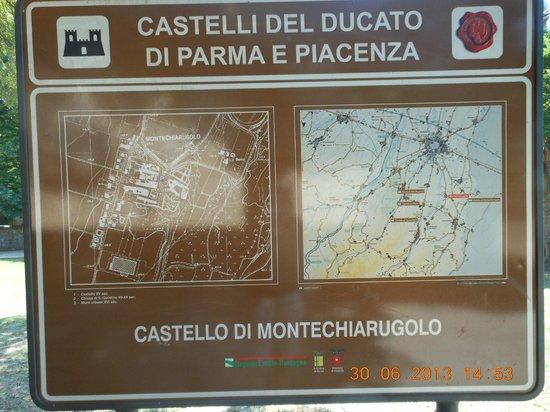 Castello di Montechiarugolo: cartello