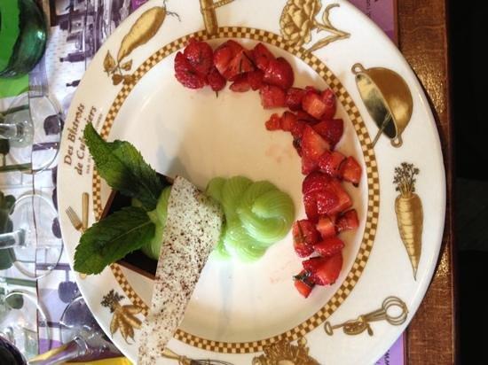 Le Bistrot du Palais: chocolat fraise et crème de menthe