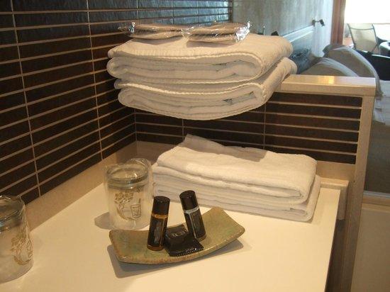 Hotel Cal Naudi: Detalles en el baño