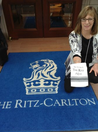 "The Ritz-Carlton, Buckhead: The t-towel reads ""so it isn't the Ritz, adjust"""