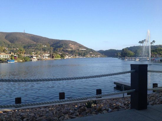 Lakehouse Hotel & Resort: View Lake San Marcos from our patio