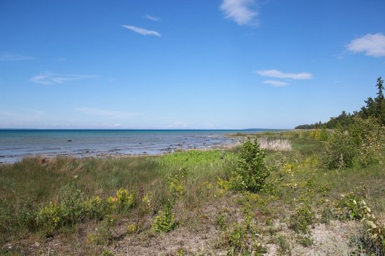 Wilderness State Park : View to the east of cabin