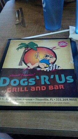 Dogs R US: nice menu