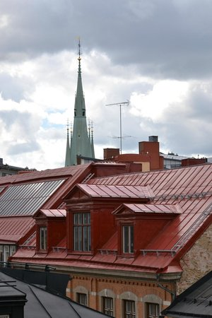 Scandic Kungsgatan: view over roofs from the 6 floor