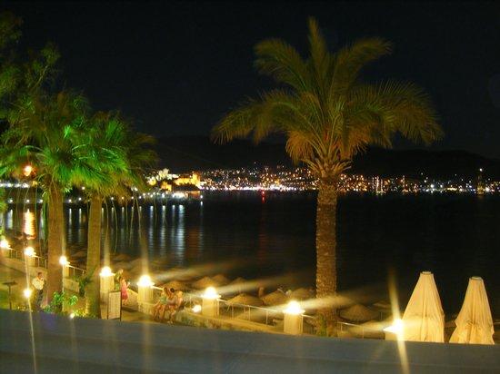 Salmakis Resort & Spa: Night view of Bodrum from restaurant