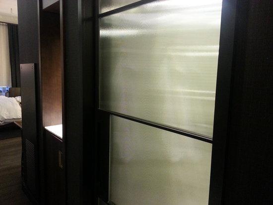 bathroom pocket doors. Refinery Hotel: Room301 Bathroom Pocket Door Doors