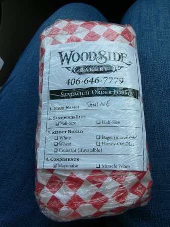 Woodside Bakery: Our sandwiches wrapped and named
