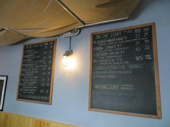 Intuition Ale Works: Beer menu boards