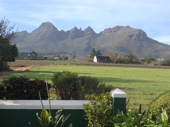 view from Eikendal Lodge