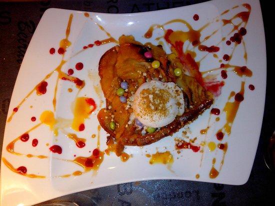 Le Dolce Italia: Tarte au pomme (tiède) avec sorbet au citron pétillant...