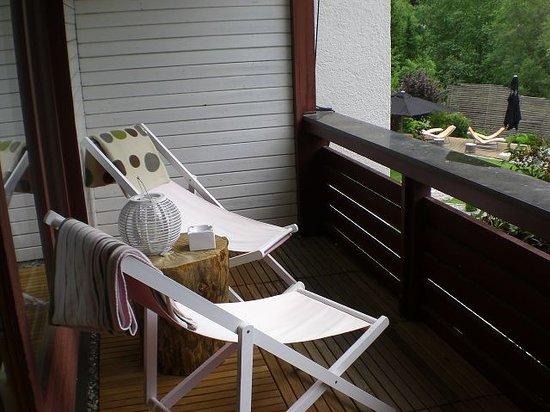 Hotel Walliserhof im Brandnertal: der Balkon