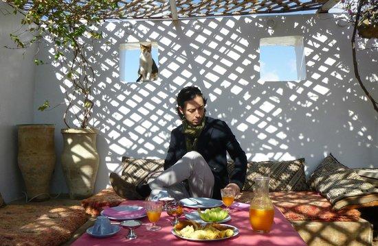 Riad Numero 9: Desayunando en la terraza del Riad 9 (Fez)