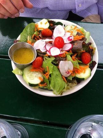 Jordan Pond House: garden salad